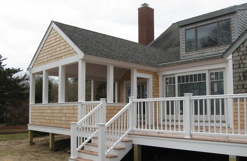 Gallery of building and remodeling projects on cape cod for Cape cod porch